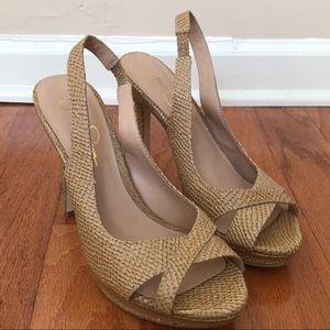 Jessica Simpson Aruba Snake Print Heels Size 7.5